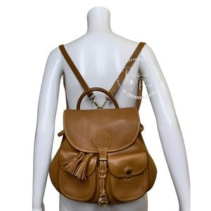 Vintage Dooney and Bourke Backpack Camel Leather